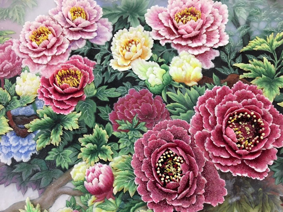 gemstone painting flower