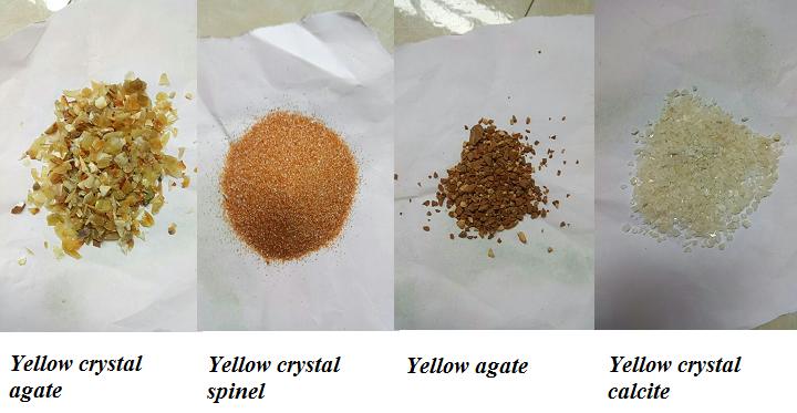 Gemstone material for light yellow to dark yellow