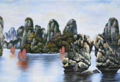 Gemstone painting - Halong's bay