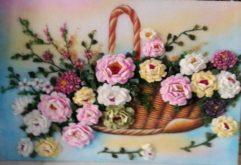 Gemstone painting - basket chrysanthemum
