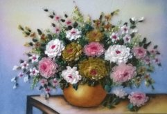 Gemstone painting - basket chrysanthemum 2