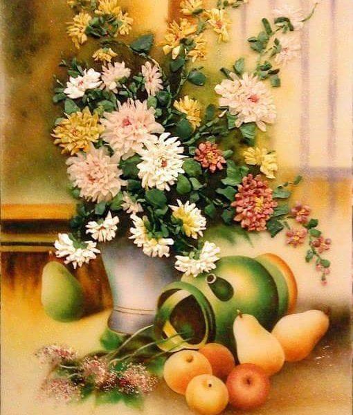 gemstone-painting-basket-chrysanthemum-5