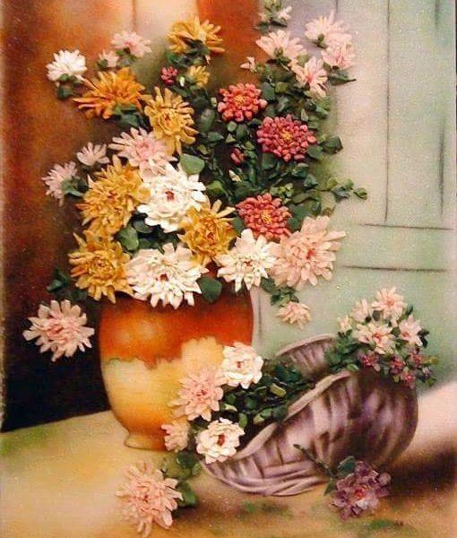 gemstone-painting-basket-chrysanthemum-7
