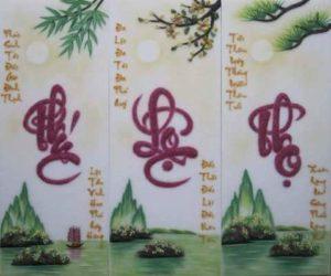 Gemstone painting - caligraphy 1