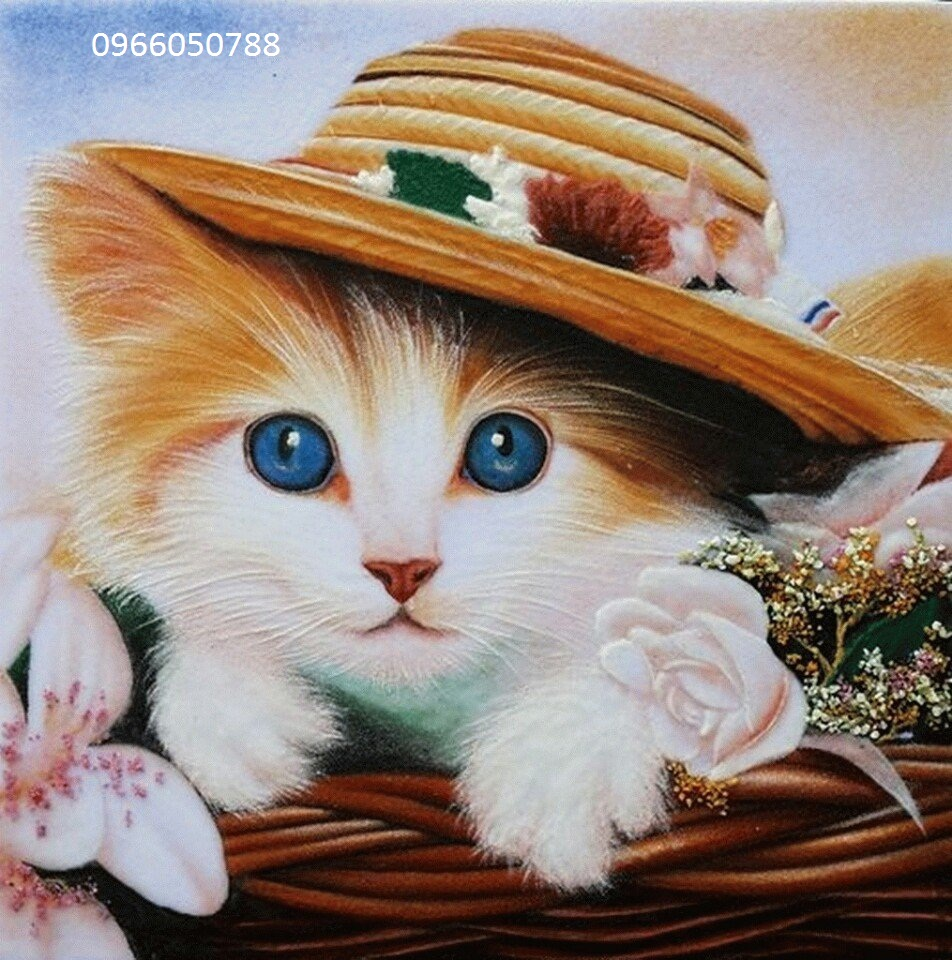 Gemstone painting - cat