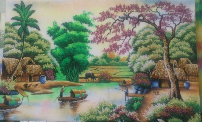 gemstone painting, gemstone art vietnam