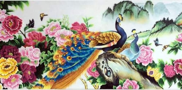 gemstone-painting-couple-peacock-1