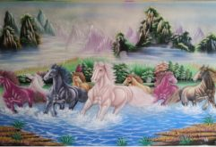Gemstone painting - eight horse 10