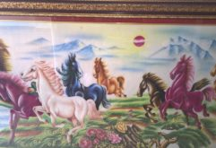 Gemstone painting - eight horse 11