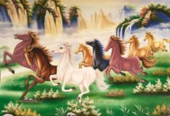 Gemstone painting - eight horse 19