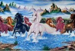 Gemstone painting - eight horse 5