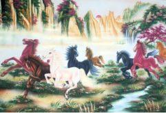 Gemstone painting - eight horse 7