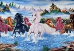 Gemstone painting - eight horse 8