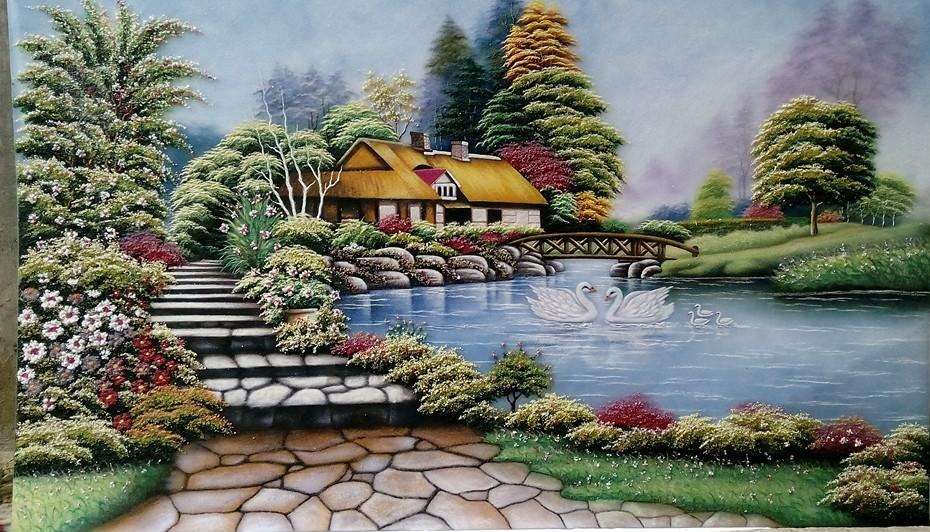 Gemstone painting - foreign landscape 10
