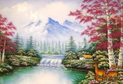 Gemstone painting - foreign landscape 12