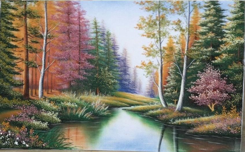 Gemstone painting - foreign landscape 17