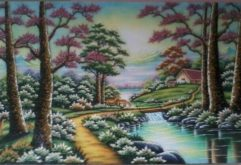 Gemstone painting - foreign landscape 20