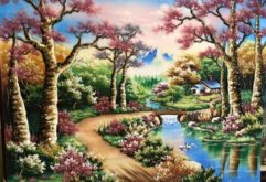 Gemstone painting - foreign landscape 22