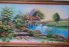 Gemstone painting - foreign landscape 27