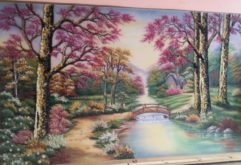 Gemstone painting - foreign landscape 28