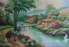 Gemstone painting - foreign landscape 29