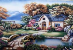 Gemstone painting - foreign landscape 3