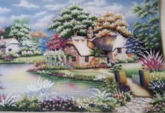 Gemstone painting - foreign landscape 30
