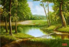 Gemstone painting - foreign landscape 33