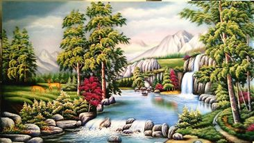 Gemstone painting - foreign landscape 8