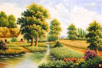 Gemstone painting - foreign landscape 46