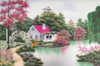 Gemstone painting - foreign landscape 48