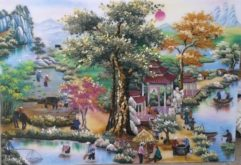 gemstone-painting-gate-of-village