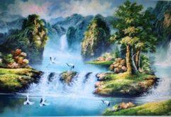 Gemstone painting - landscape vietnam 1