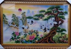 gemstone painting, piece of art