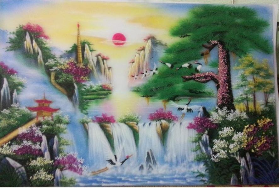 Gemstone painting - landscape Vietnam 3