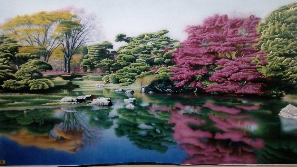Gemstone painting - Vietnamese landscape speacial