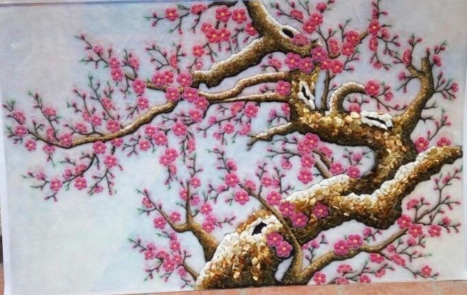 Gemstone painting - peach blossom 4