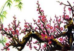 Gemstone painting - peach blossom 5