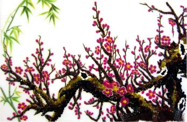 Gemstone painting - peach blossom 5