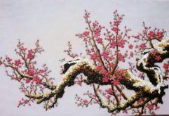Gemstone painting - peach blossom 6