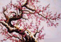Gemstone painting - peach blossom 7