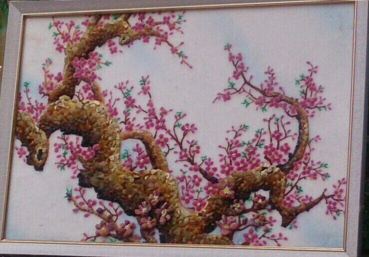 Gemstone painting - peach blossom 8