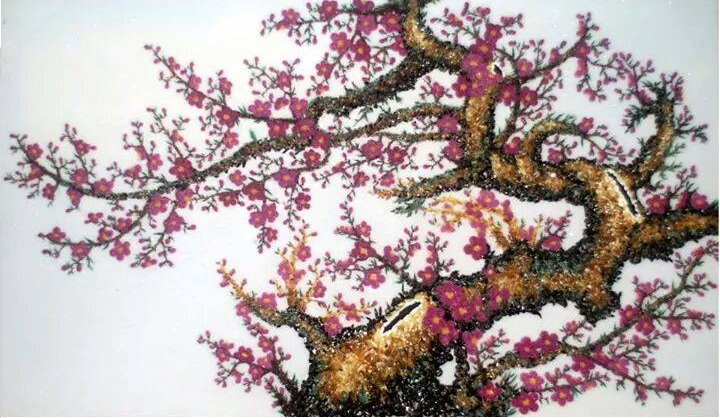 Gemstone painting - peach blossom