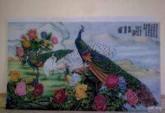 Gemstone painting - peacock 1