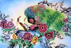 Gemstone painting - peacock 2
