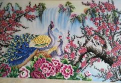 Gemstone painting - peacock