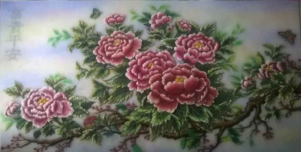 Gemstone painting - peony 5