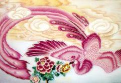 Gemstone painting - phonix