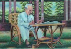 Gemstone painting - portraits Ho Chi Minh