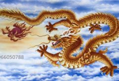 Gemstone painting - red dragon